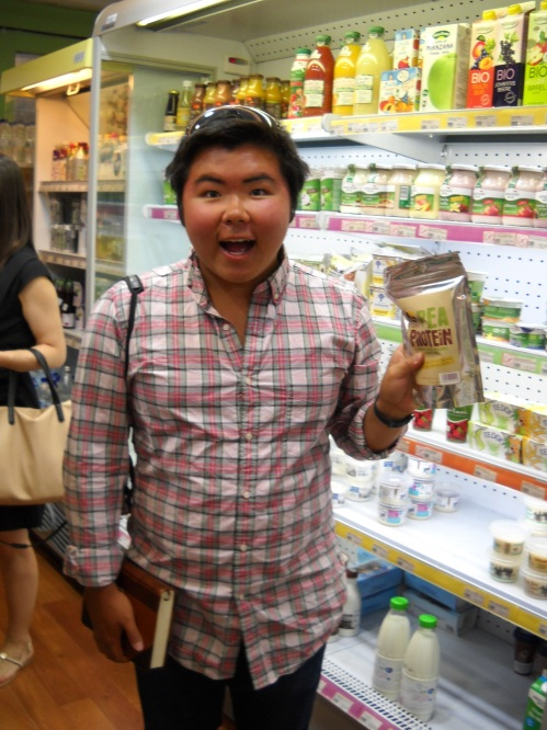 Eman finds another type of protein to add to his collection, pea protein.