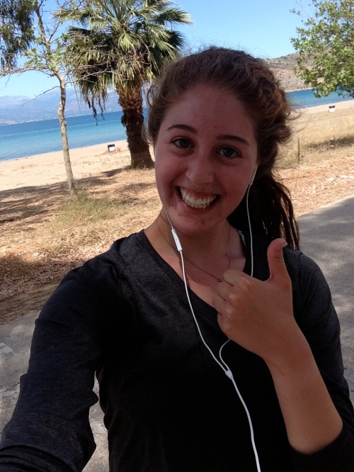 Laura is forced to take a selfie since nobody wanted to go on a run with her. Google maps said she ran 50 miles, but we were a bit skeptical.