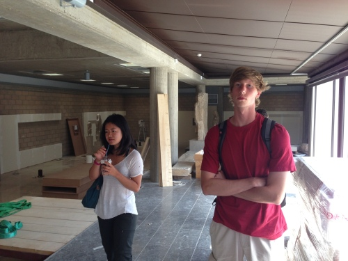 Zhenwei and Zack get fired up for our private tour of the archaeological museum in Thebes while it's still in the renovation stage. Take note how Zhenwei bolted off the bus for a bathroom and came back with a Frappuccino.