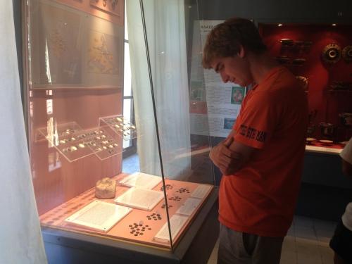 Teddy examining the coins. #Classic #NERD