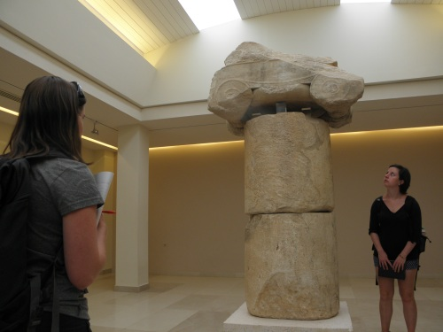The large trophy of victory (i.e. a huge Ionic column) that was erected by the Athenians near the edge of the large Northern swamp, where the Persians were slaughtered.
