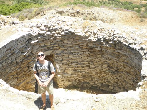 Brett is dumfounded by the thought that this will be the last tholos tomb of the entire trip.