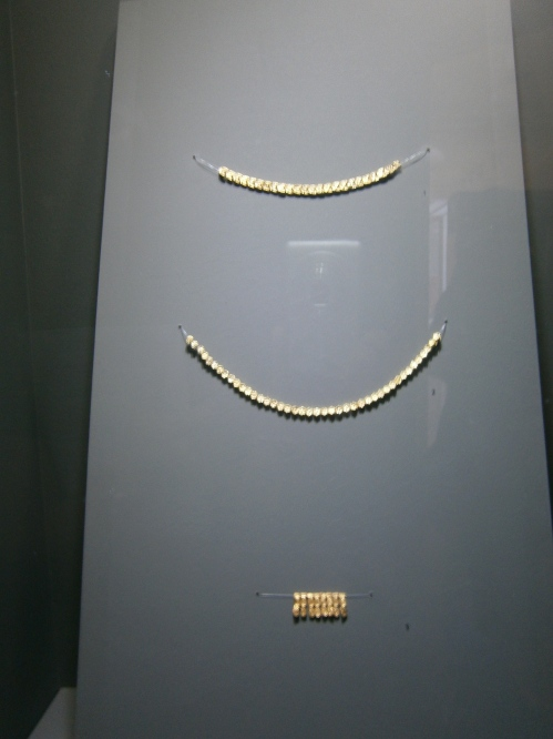 Gold from the Black Sea found in a tholos tomb. This shows a connection between the area of Dimini and the eastern shore of the Black Sea.