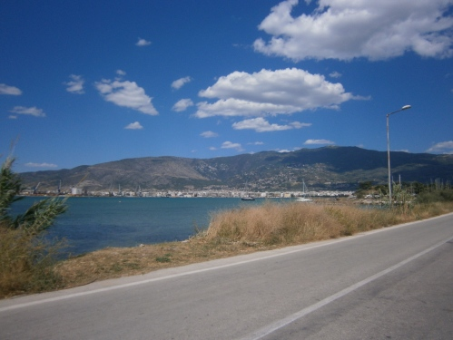 View of the beautiful port city of Volos from Pefkakia.